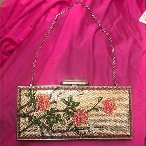 Judith leiber Swarovski cherry blossom handbag